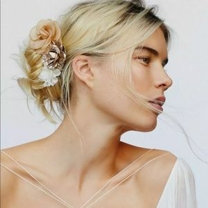 Free people flower hair comb clips bridal New